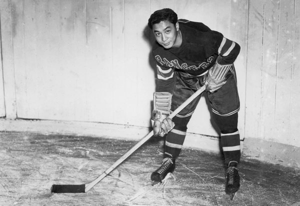 1st Asian in NHL - Larry Kwong  New York Rangers  March 13, 1948
