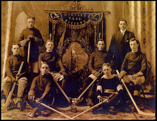 St Peters Hockey Team - Dartmouth, Nova Scotia - early 1900s