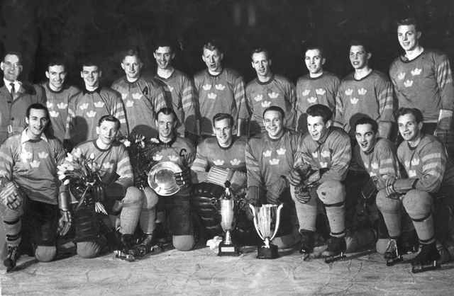 Sweden National Team Tre Kronor  World Ice Hockey Champions 1953