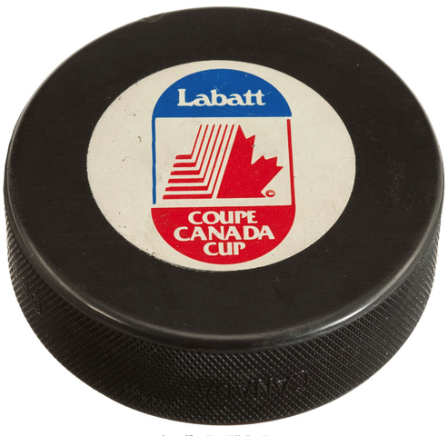 1987 Canada Cup Game 2 Winning Goal Puck scored by Mario Lemieux