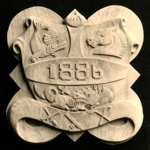 St. Paul's School Form Plaque with Crossed Hockey Sticks - 1886