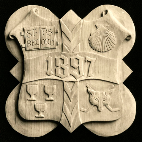 St. Paul's School Form Plaque with Crossed Hockey Sticks - 1897