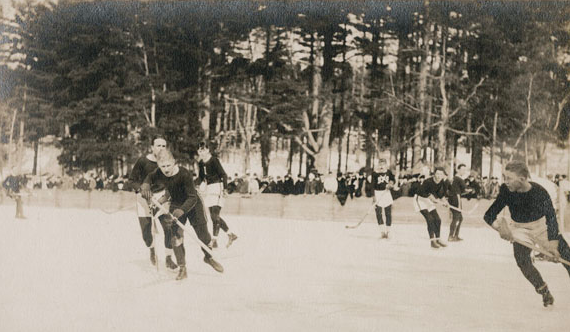 St. Paul's School vs Dartmouth College  Lower School Pond - 1916