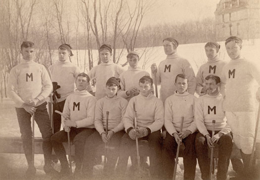 Mohican Isthmian Champion Hockey Team 1889 - Ice Polo History