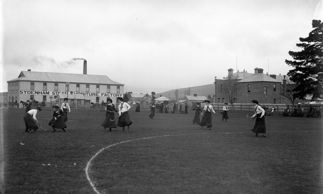 Women's Field Hockey Game at Sydenham Park, Christchurch - 1900