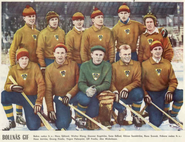Bollnäs GIF - Sweden Bandy Team - 1959