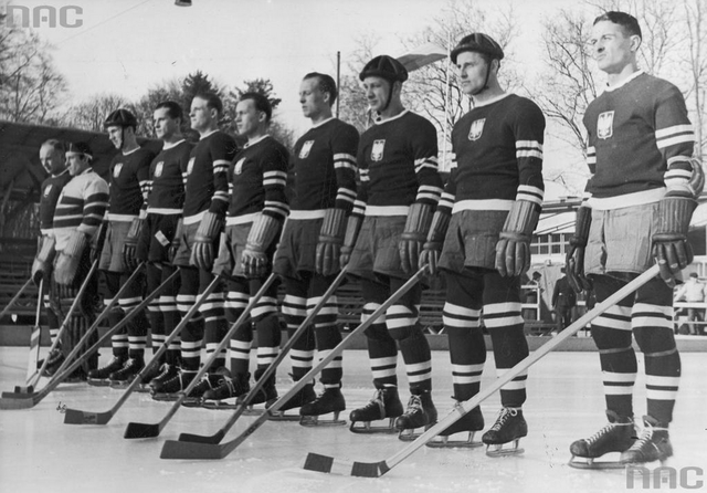 Poland Men's National Ice Hockey Team in 1939