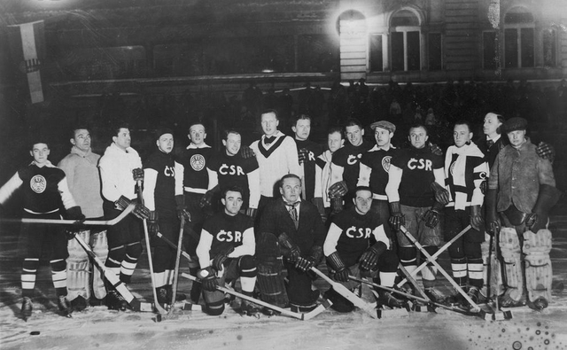 Czechoslovakia & Poland Hockey Teams  European Championship 1929