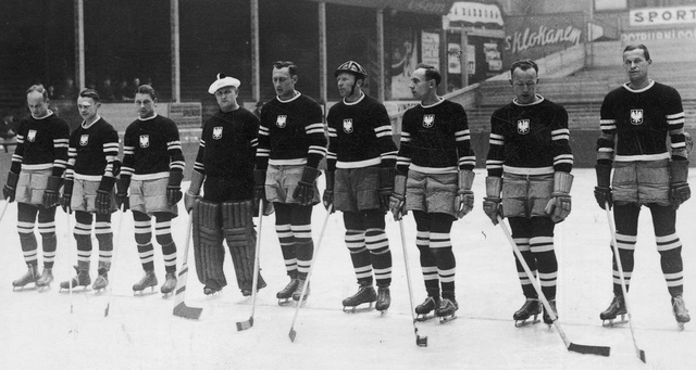 Poland Men's National Ice Hockey Team in Prague 1938