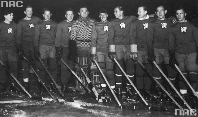 Belgium Ice Hockey Team at World Championships in Prague 1933