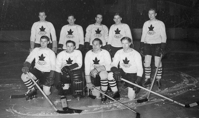 Team Canada Ice Hockey Team in Berlin, Germany 1936