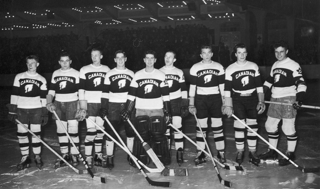 Team Canada in Alternate Jerseys - Berlin Hockey Tournament 1936