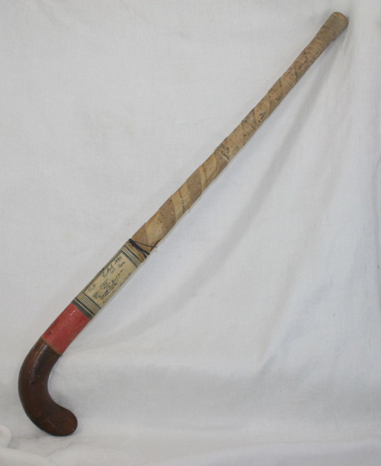 Hockey Stick Brands: Antique Field Hockey Stick - Bulldog Brand - 1936