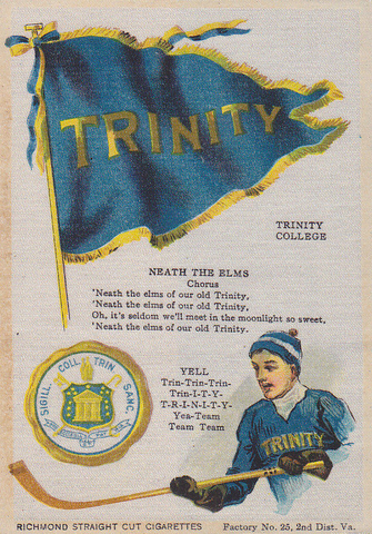 Trinity College Ice Hockey Silk with College Cheer - circa 1912