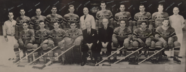 Montreal Canadiens - Stanley Cup Champions - 1944