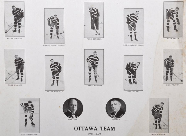 Ottawa Senators Team Photo - 1928-1929 Season