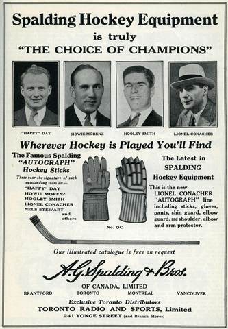 Spalding Hockey Equipment Ad - 1933 A.G. Spalding & Bros.