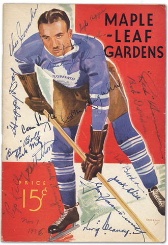 1936 Toronto Maple Leafs Program - Autographed
