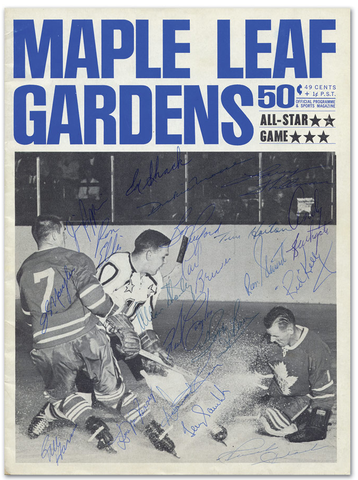 1964 NHL All-Star Game Program - Toronto Maple Leafs Autographed