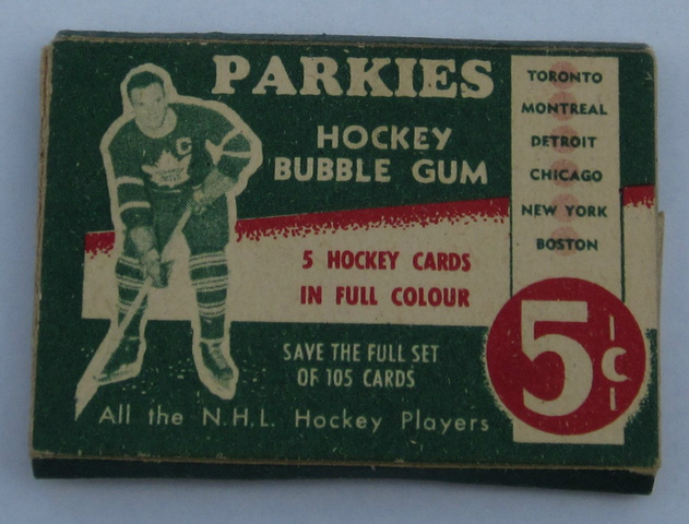 Parkies Hockey Card Box with Ted Kennedy on the front - 1951