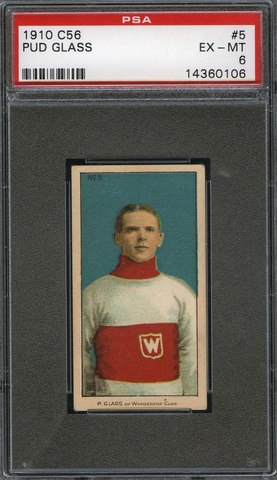 Pud Glass No5 Imperial Tobacco C56 Rookie Card - PSA 6