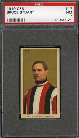 Bruce Stuart No17 Imperial Tobacco C56 Rookie Card - PSA 7