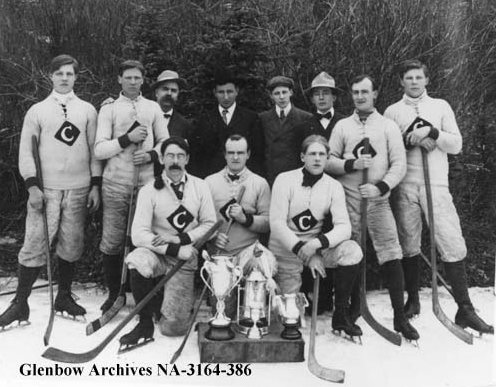 Canmore Hockey Team - Alberta, Canada 1908