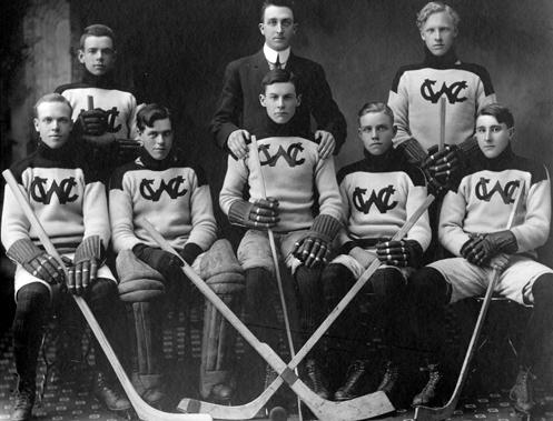 Western Canada College Senior Hockey Team 1914 Hockeygods