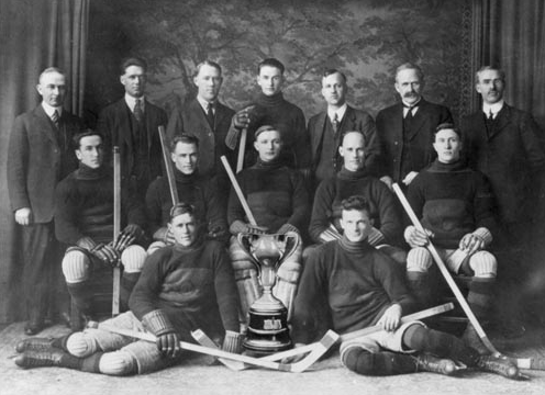 Okotoks Hockey Team - Alberta Intermediate Champions 1922