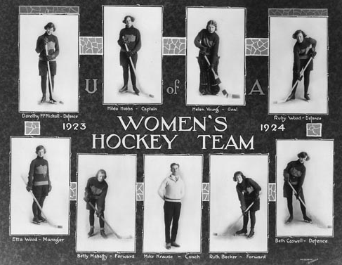 University of Alberta Women's Ice Hockey Team 1924