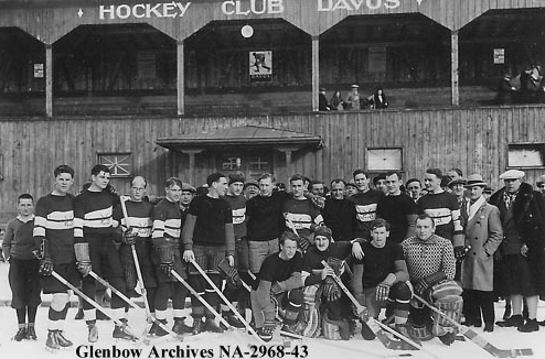 Oxford University and Czechoslovakia Hockey Teams in Davos 1932