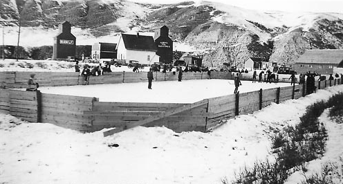 Hesketh Outdoor Ice Rink - Alberta 1939
