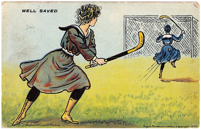 Antique Field Hockey Postcard 1910 - Well Saved