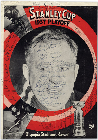 1937 Stanley Cup Finals Hockey Program - Autographed