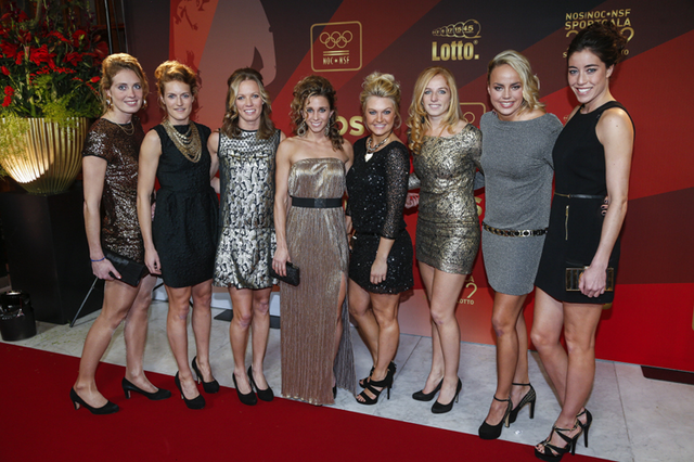 Dutch Girls Field Hockey Team at Sportgala 2012 in Amsterdam