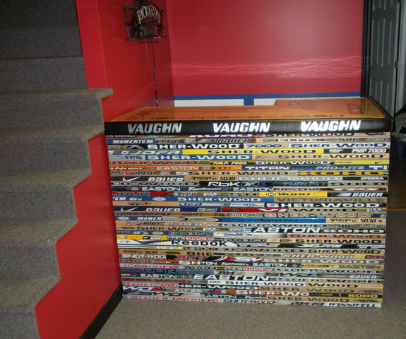 Hockey Stick Bar in the Hockey Man Cave