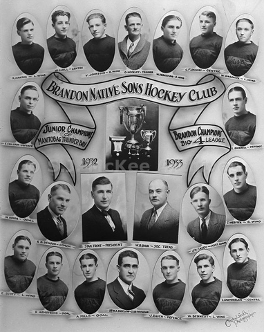 Brandon Native Sons - Turnbull Cup Champions 1933