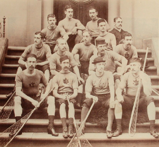 Canadian Lacrosse Team in Scarborough, England, 1883