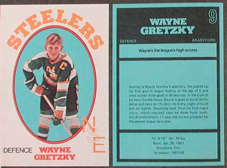 Wayne Gretzky Hockey Card - 1972 Brantford Steelers