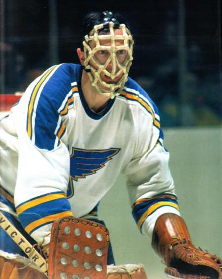Jacques Caron Of St Louis Blues Wearing Pretzel Type