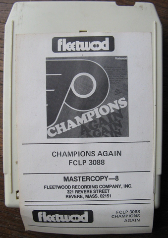 Philadelphia Flyers 8 Track Tape - Stanley Cup Hilites 1975