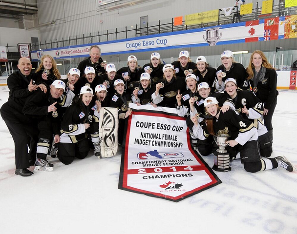 Weyburn Goldwings Esso Cup Canadian Female Midget Champions 2014