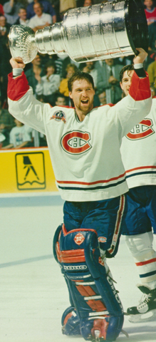 "Patrick Roy Hoisting The Stanley Cup in 1993 - ""Saint Patrick"""