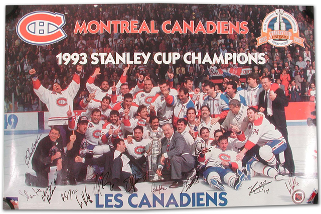 Montreal Canadiens - Stanley Cup Champions 1993