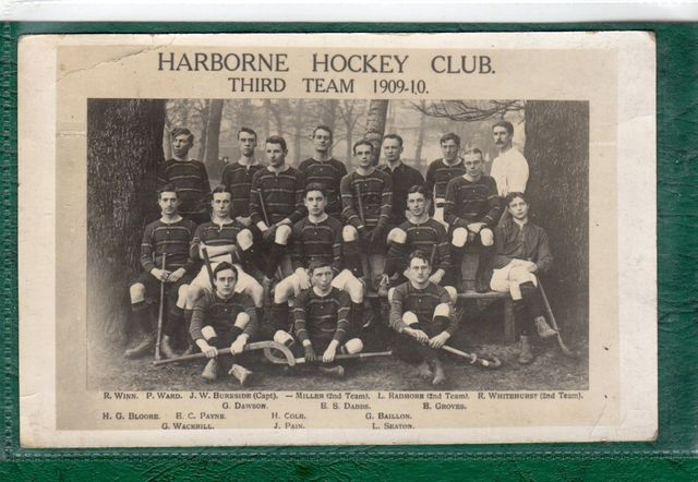 Harborne Hockey Club 1909 - Antique Field Hockey Team