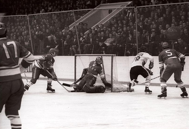 1972 Summit Series Game Action at Luzhniki Ice Palace in Moscow