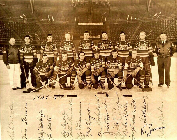 St. Louis Flyers Team Photo 1940 - Autographed