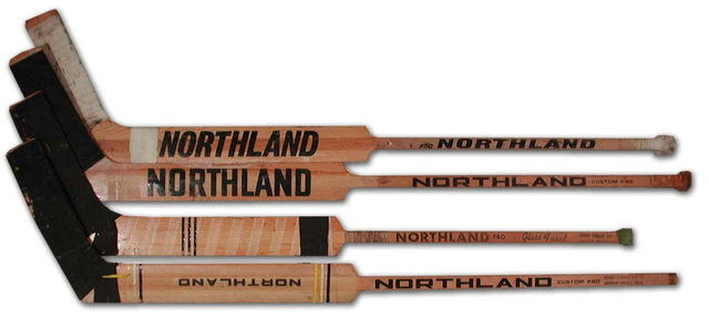 Vintage Northland Wood Goalie Sticks from the 1960s & 1970s