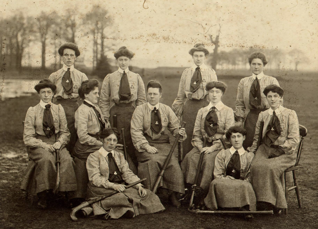 Antique Field Hockey - Ireland Ladies Field Hockey Team 1890s