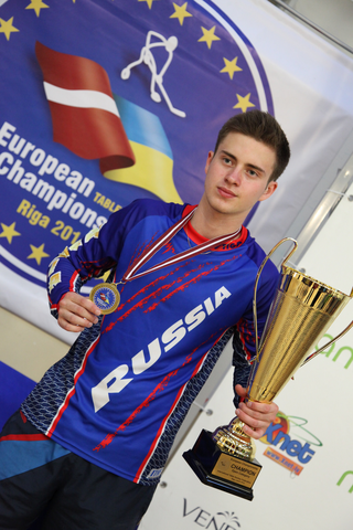 Maxim Borisov - European Table Hockey Champion 2014